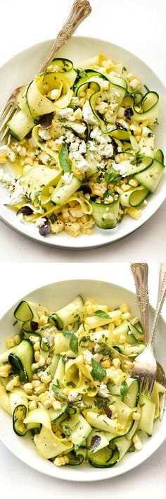 Raw zucchini and corn make this no-cook salad ready in just 5 minutes and so, so good   foodiecrush.com
