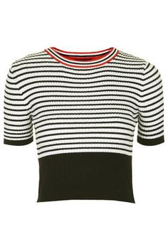 Topshop - Colour-Block Striped Knit Top