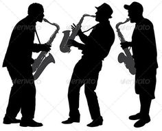 Saxophone Player Silhouette - People Characters