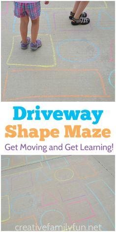 Outdoor Shape Activity: Driveway Shape Maze