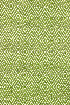 RugStudio presents Dash and Albert Diamond Sprout/White Flat-Woven Area Rug