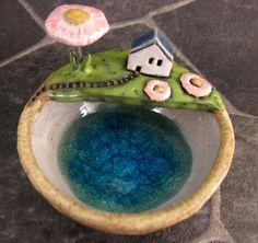 Spring...Keepsake Bowl in Stoneware van elukka op Etsy, €38.00