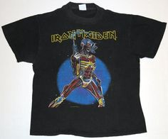 Vintage 1987 Iron Maiden Somewhere In Time T-Shirt.
