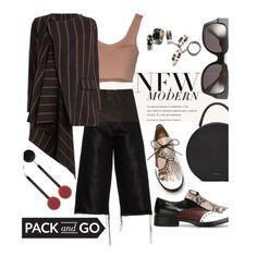 """Milan Fashion Week"" by maranella ❤ liked on Polyvore featuring Marques'Almeida, Pollini, Mansur Gavriel, Marni, Dries Van Noten, Uma Wang, women's clothing, women, female and woman"