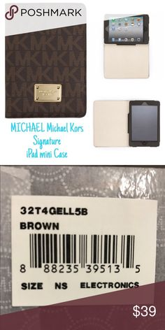 "MICHAEL Michael Kors 'Signature' iPad mini Case Signature goldtone hardware and a monogrammed logo motif style a street-chic case designed to protect your iPad mini from scuffs and scratches. 6""W x 8 1/4""L x 3/4""D. Magnetic closure. PVC/polyester/cotton/PU. By MICHAEL Michael Kors; imported. MICHAEL Michael Kors Other"