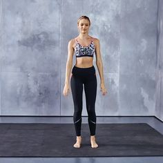 Train Like An Angel with Candice Swanepoel: Single-Leg Squats up the ante on regular squats by sculpting legs as stellar as a supermodel's. Click ahead to see the full workout & shop Candice's looks. | Victoria's Secret Sport
