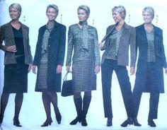 Jacket Top Dress Skirt and Pants Sewing Pattern by latenightcoffee