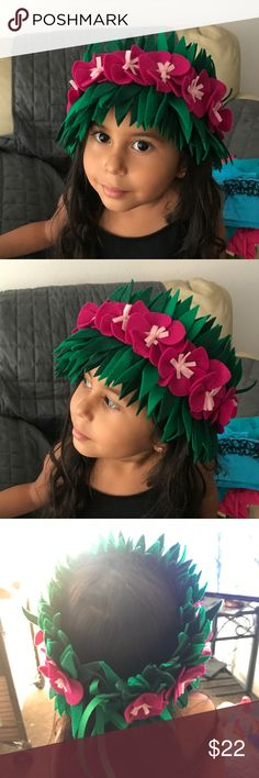 Handmade Felt Moana Headband Pink Flowers Just finished making this one. Took a little longer but it looks good! My daughter uses hers to play dress up. Perfect for Halloween Moana costume too. I will ship asap and thank you! Accessories Hair Accessories