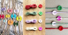 Here's a fun project you can do using just some colourful buttons and string – button bracelets!