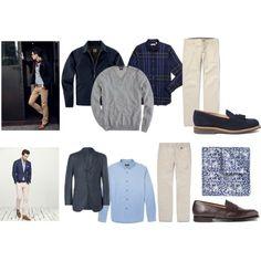 Consejos para combinar el azul marino con el color café  #Guardarropa hombres                                                                                                                                                                                 Más