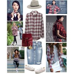 Making the best of a plaid situation by musicfriend1 on Polyvore featuring polyvore fashion style Band of Outsiders AG Adriano Goldschmied Converse Proenza Schouler Witchery Sole Society rag & bone