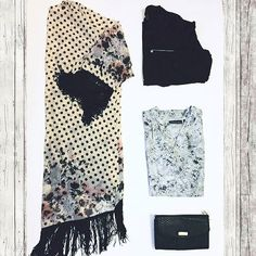 Try a Dark & Feminine theme for the fall weather! Add a pair of black ankle booties with a gray pair of skinny jeans for a complete look! It's easy, quick, & stylish. StyleBox #2 for a Houston customer.  #ootn #altardstate #sundaynight #flatlay #anneklein #jessicasimpson #texas #black #fallfashion #instafashion #crstory  #ladiesstylebox