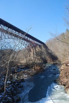 West Virginia Turnpike's Bluestone River Bridges in Eads Mill, WV