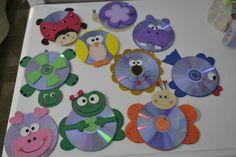 CDs bichinhos de eva Barn Crafts, Cd Crafts, Music Crafts, Foam Crafts, Recycled Crafts, Hobbies And Crafts, Arts And Crafts, Easter Crafts For Kids, Toddler Crafts