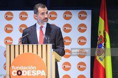 King Felipe VI of Spain speaks during the 'Codespa' awards ceremony at the 'Rafael del Pino' auditorium on January 16, 2015 in Madrid, Spain.