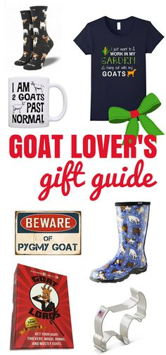 Goat Lover's Gift Guide: 12 super cute gift ideas for goat lovers! Great for the crazy goat lady in your life (or for yourself!) Holiday Gift Guide | Raising Goats | Farm-inspired Gifts |