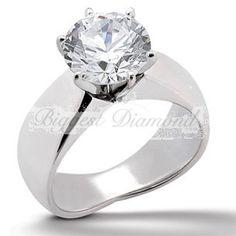 Fluid Organic form band arrangement Stunning 6-prong Round Cut Solitaire Diamond Engagement Ring