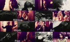 The Original Family - Klaus - Rebekah - Elijah - Kol - Finn - Esther - Mikael - Henrik