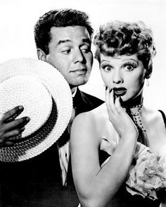 Ricky and Lucy (I Love Lucy) - Lucille Ball and Desi Arnaz - probably the most popular TV couple ever