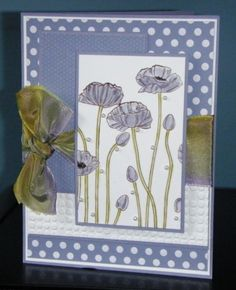 SC437 Wisteria Poppies by sue28 - Cards and Paper Crafts at Splitcoaststampers