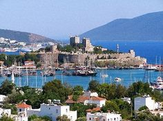 Bodrum, Turkey a favorite place of Charlotte's. View of St. John's Castle.