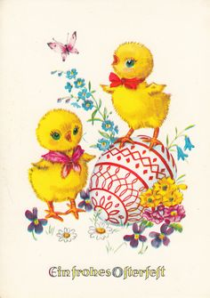 Easter fantasy huge egg chickens and butterfly fantaisie Vintage Easter, Vintage Holiday, Wedding Plants, Easter Art, Easter Traditions, Easter Printables, Vintage Greeting Cards, Vintage Art, Vintage Images