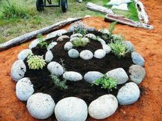 Plant food not lawns.. spiral planter for those with little space
