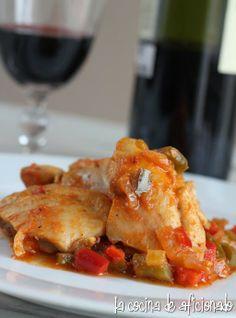 la cocina de aficionado: Pollo al chilindrón