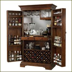 Awesome Brown Liquor Cabinet Ikea Made Of Wood With Swivel Door For Home Bar Room Furniture Ideas Wooden Wine Racks Wall Mounted Target