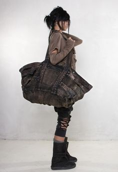 "Dig the top half. And the bag. Not so much below the waist. DEMOBAZA - ""Channeling"" collection - S/S 2012"