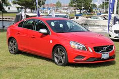 The Passion Red 2013 Volvo S60 T6 R-Design was a definite crowd pleaser.