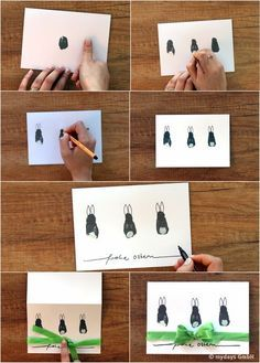 It& that simple: DIY DIY Easter cards yourself- So einfach geht's: DIY-Os. - It& that simple: DIY DIY Easter cards yourself- So einfach geht's: DIY-Osterkarten selber b - Cards Diy, Diy Easter Cards, Kids Cards, Gift Of Time, All Things New, Easter Traditions, Easter Printables, Easter Party, Diy Craft Projects