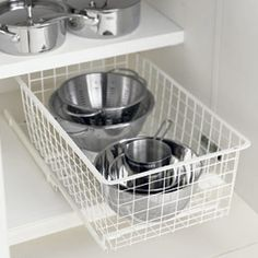 The Container Store > Cabinet-Sized elfa Mesh Easy Gliders™