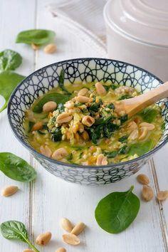 Spinat-Buchweizen-Pfanne - Rezept mit Erdnüssen