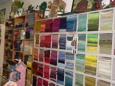 Hand dyed wool at Liberty Cottage in Canandaigua, NY Finger Lake Region.  Bright colors and all.