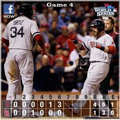 Gomes puts Sox on top with 3-run homer @ Game 4 - 2013 WS.