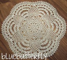 I can see this crochet doily as a beautiful rug on a hard wood floor. Free Ravelry download. I like this idea, might try it.
