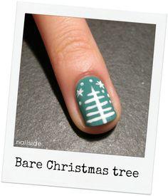 Nailside: Tutorial: Bare Christmas Tree