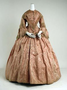 Dress ca. 1856 via The Costume Institute of The Metropolitan Museum of Art