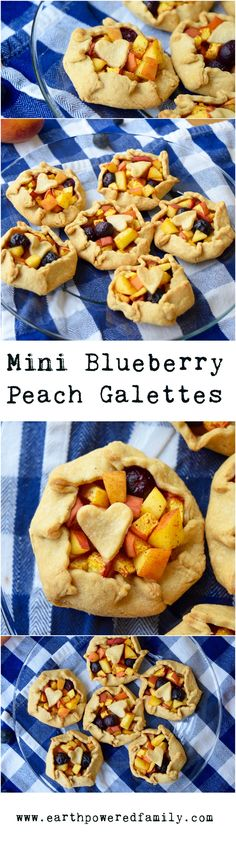 These mini galettes are as easy as they are delicious. A summertime crowd pleaser with seasonal blueberries and peaches! Vegan/refined sugar free