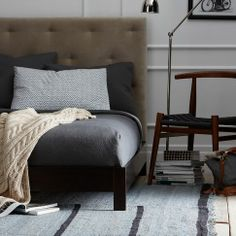 Simple Low Bed Frame in Chocolate from west elm