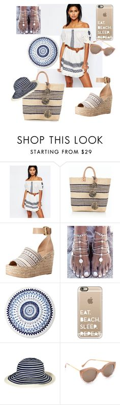 """Eat, beach, sleep, repeat😀"" by ipekzsuel on Polyvore featuring Tularosa, Talbots, Marc Fisher LTD, The Beach People, Casetify, Barbour and Illesteva"