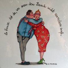 HOLZBILD von Barbara Freundlieb - ZUHAUSE IST DA WO MAN...