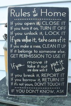 If You Open It Close It  Practical Family by RusticPineDesigns