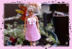 """Puppenkleidung - *** Minikleid mit """"Schmetterling"""" *** für Barbie - ein…"""