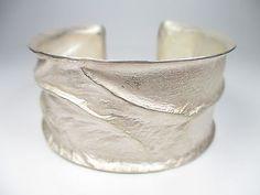 Designer Armreif 925 Sterling Silber Vintage 90er Modernist silver bangle bN1 2