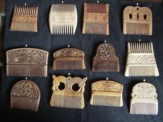 Elaborately decorated Celtic, Anglo Saxon and Viking hair combs. Click for an in-depth article on personal hygiene and hairstyles in the Viking Age.