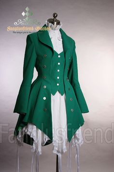 Pirate Lolita Elegant Gothic Long Tuxedo Tail Jacket
