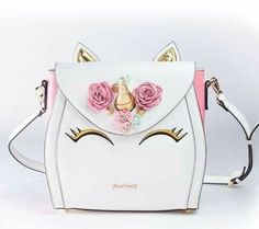 Here is something new and exciting! How about a bag version of the Unicorn Cake you have been seeing everywhere! This Unicorn Bag is a multi-wearable bag with a tote option, backpack and cross-body Unicorn Birthday, Unicorn Party, Quotes Glitter, Cute Purses, Purses And Bags, Fashion Bags, Fashion Accessories, Unicorn Fashion, Do It Yourself Inspiration