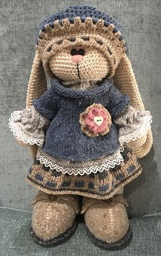 My first bunny is done! Pattern & inspiration by Irina Tarasova